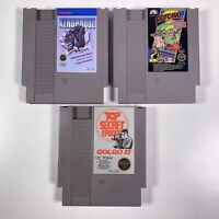 Nintendo NES Game Lot Of 3 Games Xenophobe Golgo 13 & Gotcha Clean Working