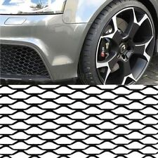 "BLACK ALUMINIUM SPORT MESH GRILL VENTS CAR RACING GRILLE BUMPER MODIFY 40""x13"""