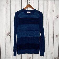 Wallace & Barnes J.CREW Men's Pullover Crew Neck Sweater Blue Knit Size Medium