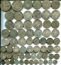 £5 pre 1947 Crowns to Threepences, all different, 9.03 tr oz silver, many better