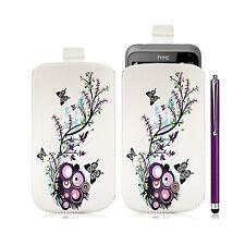Housse coque étui pochette pour HTC Radar avec motif HF01 + Stylet luxe