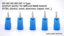 VHM Gravierstichel 20°- 90° CNC engraving cutter