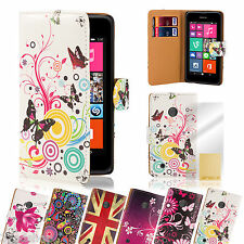 CARTERA LIBRO Funda De Cuero Pu para Nokia Lumia 620 Protector pantalla gratis
