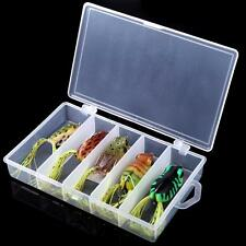 5pcs Soft Frog Fishing Lure Hook Set Topwater Tackle Bait -Ideal Accessories POP