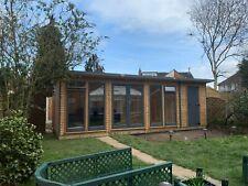 summerhouse home office double glazed 24x 9ft Del,& erect , other sizes av