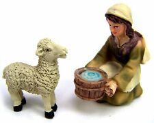 5cm Krippe geschnitzt Schafe Krippenfiguren Pyramide Hund handgeschnitzt  ca