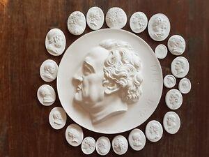 #23 Grand Tour Cameos Intaglios Gems Medallions plaster Seals European Coins New