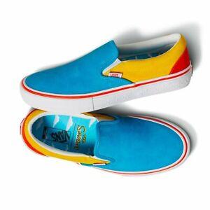 Vans X The Simpsons Slip-on Pro Bart Skating Sneaker Blue / Yellow Mens Sz 8 NWB