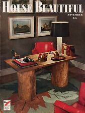 1946 House Beautiful November - Radios - console and built-in; CA and IL homes