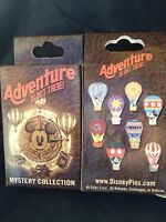 Disney * ADVENTURE - HOT AIR BALLOONS * New & Sealed 2-Pin Mystery Box