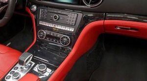 Mercedes-Benz OEM R231 SL Class Black Ash Wood Interior Trim Kit 2013+ New 7 Pc
