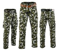MOTORBIKE  CAMO CARGO TROUSER PADDED WITH ARMOUR JEAN PANT PROTECTIVE LININIG