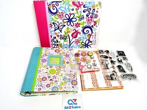 2 Art Activity Projects Binder Books, For Kids and Adults + Stickers - Used