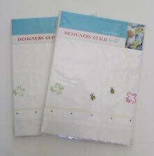 Tricia Guild Designers Guild Embroidered Birds&Bees CottonTwin Flat Sheets Set 2