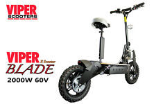 Electric Scooter 2000W 60V Viper Blade New 2018 Model, Terrain Tyres.