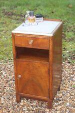 Antique Walnut bedside cupboard,bedside table,bedside cabinet,antique nightstand