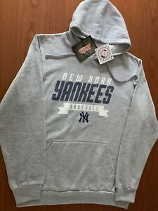 Stitches Athletic Wear New York Yankees Pullover Fleece Hoodie Gray New Size L
