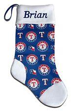Personalized MLB Texas Rangers Baseball Christmas Stocking Embroidered