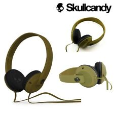 Skullcandy Uprock On-Ear Headphones Kids DJ Style with In-Line Mic Army Green