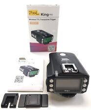 PIXEL King Pro 2.4GHz Flash Transceivers kit TTL LCD with PC Port for Sony