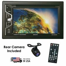 Gravity Double 2DIN Touch Bluetooth DVD/CD Player Car Stereo FM Radio Sony Lens