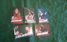 Vince McMahon and family 2001 WWE Wrestlemania 6 card lot Linda Triple H Shane