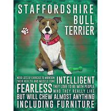 Staffordshire Bull Terrier Dog Small Metal Wall Sign 200mm X 150mm 90760