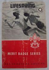 Vintage 1965 Lifesaving Merit Badge Series Pamphlet Booklet BSA Boy Scouts