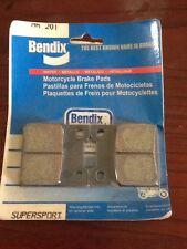 Bendix MR201 Sintered Road Suzuki Motorcycle Rear Brake Pad