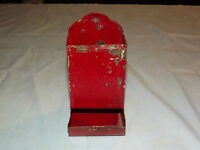 VINTAGE  1800S-1900S MATCH HOLDER WALL TIN