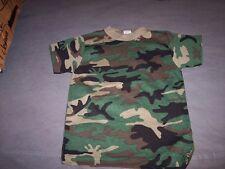 Wholesale lot 10 kids camo t shirts large woodland camo shirt lot kids tshirts