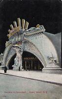 Postcard Entrance to Dreamland Coney Island NY #2