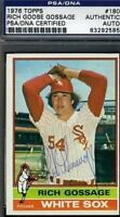 Rich Goose Gossage Signed 1976 Topps Psa/dna Certed Autograph Authentic