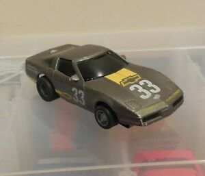 TYCO Silver Corvette HO Scale Slot Car w/TYCO 440X2 Chassis