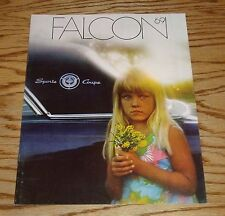 Original 1969 Ford Falcon Sales Brochure 69 Coupe Sedan Wagon