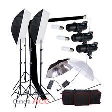 900W Flash Kit Lighting Digital Black White Stand Backdrop Background Portrait