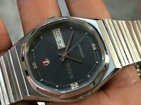 Rado Voyager Automatic Day Date Mens Black Dial Gents Vintage watch