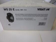 "Visaton WS 25 E Tieftöner Lautsprecher 8 Ohm 10"" Art Nr 1061 VR05"