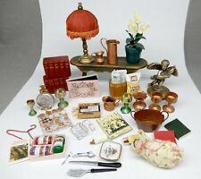 Vintage Dollhouse Accessories Lot 2 Dollhouse Miniature 1:12