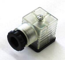 EL H550ZRC3U6RG3160 - Lighted DIN 43650 Type A Connector 24V DC - 3 Cond w/ GRND