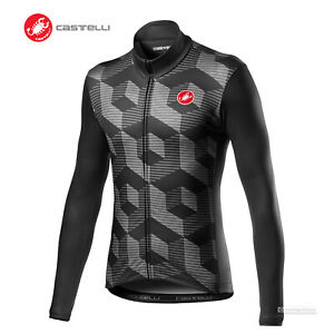 NEW 2021 Castelli CUBI Long Sleeve Cycling Jersey : VORTEX GREY