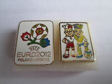 b1 lotto 2 spille POLAND UKRAINE 2012 UEFA european championship pins lot 12