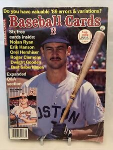 Baseball Cards Magazine August 1989 Mike Greenwell With Cards