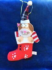 Santa Claus Kitten CAT Ornament Antique Primitive Stocking Bowl Filler Tree