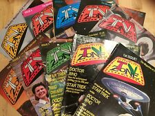 10 x TV Zone Magazines 1st Issue - Issue 10 complete run Excellent Condition