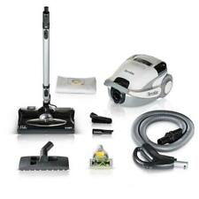 White TerraVac 5-Speed Quiet Canister Vacuum Cleaner, Sealed Hepa Filter -Prolux