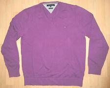 TOMMY HILFIGER Pullover Lila V-Neck XL (eher L) 54 *wie NEU*