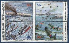 Marshall Islands 1992 World War 2 WW II Scott 312-15 Battle of Midway W43 NH