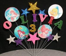 Disney Ariel The Little Mermaid Birthday Cake Topper Decoration ANY NAME + AGE