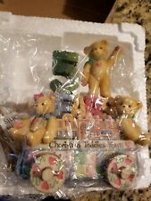 Cherished Teddies Five Teddies on a Float 5th Anniversary 1999 Members Only Coa